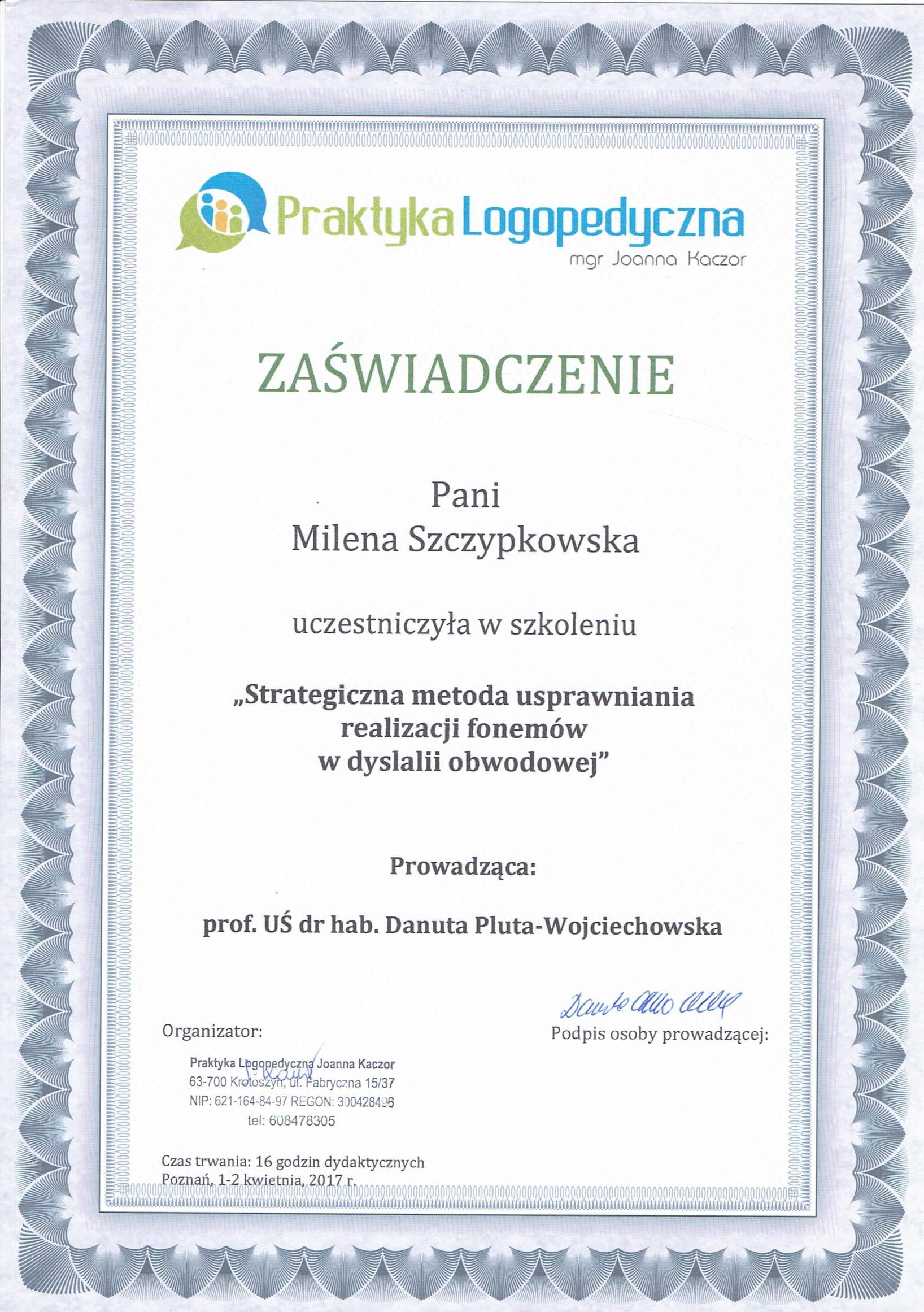 Certyfikat MS 1