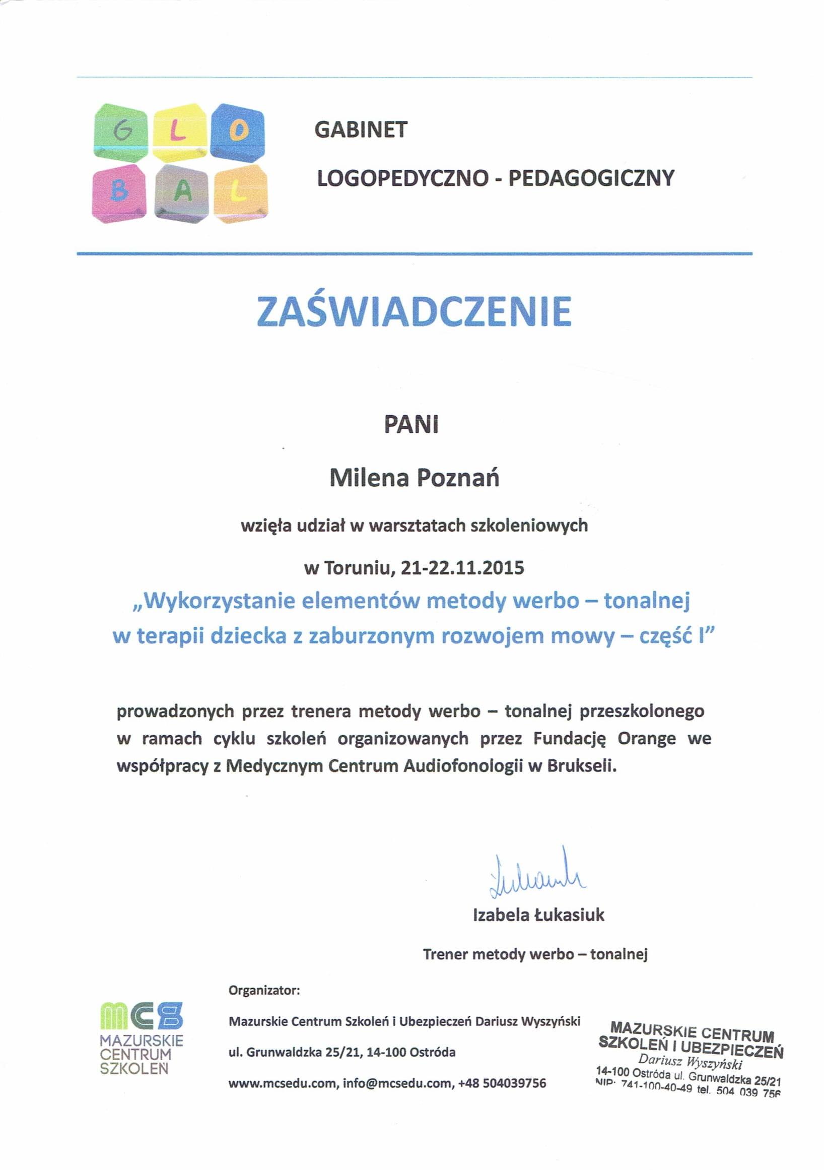 Certyfikat MS 3