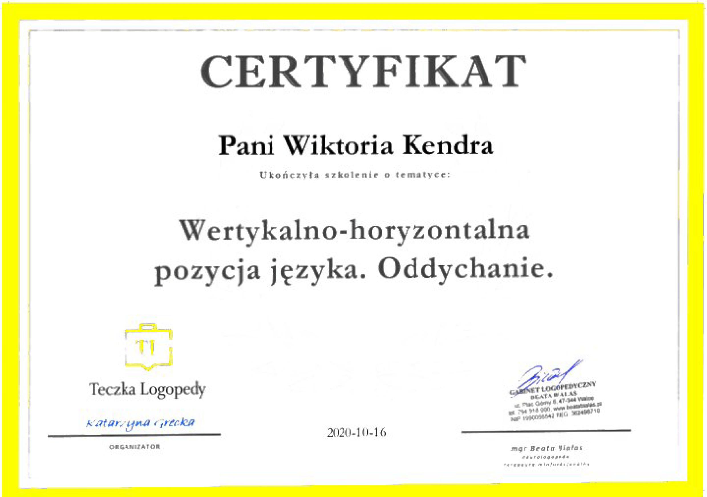 Certyfikat WK 2
