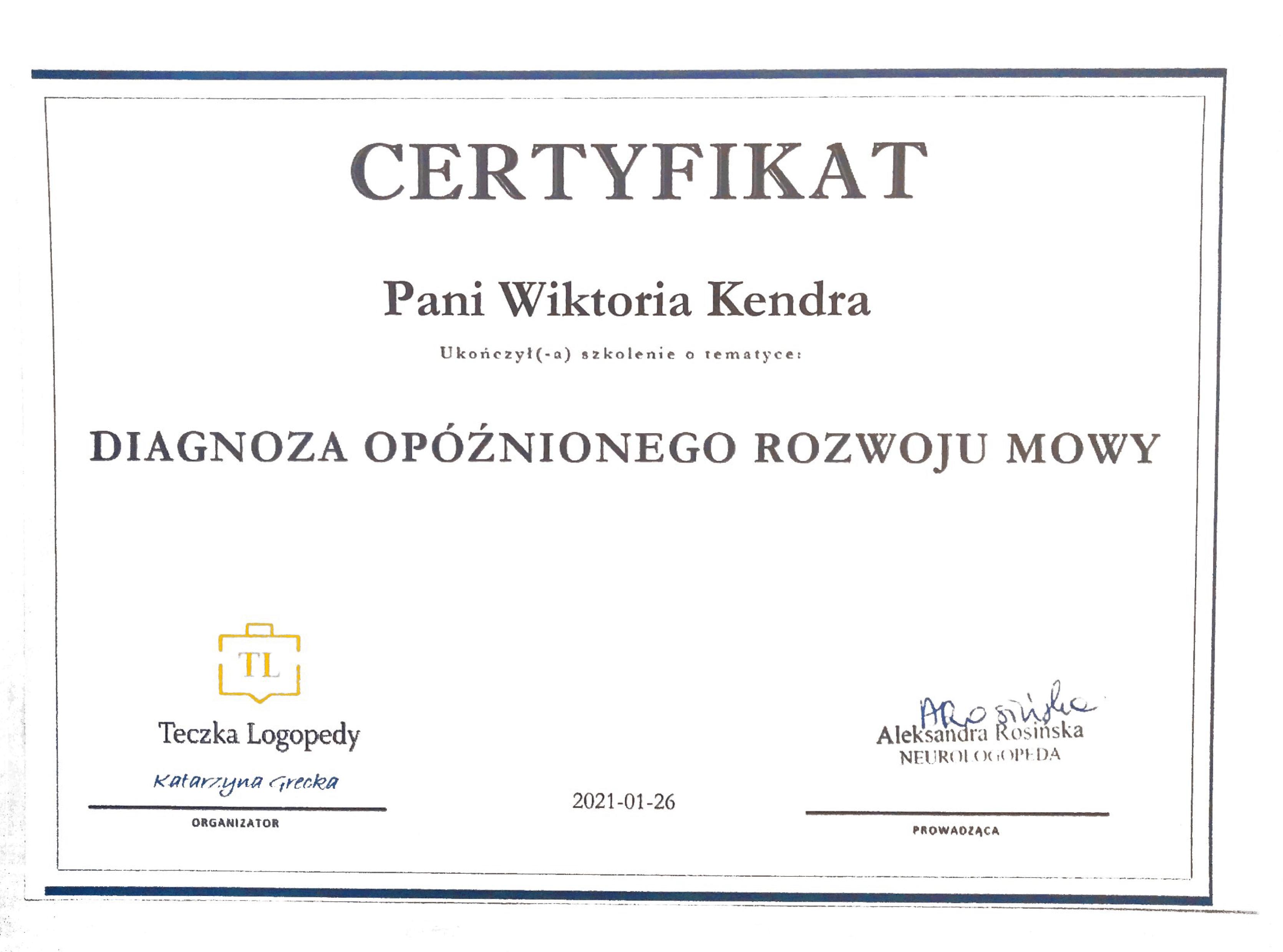Certyfikat WK 6